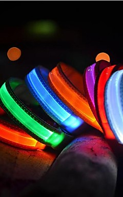ieftine -Pisici Animale de Companie Câine Gulere Lese Antrenament Câini Lumini LED Electric Stralucire in intuneric Mată Nailon Albastru Roz Curcubeu