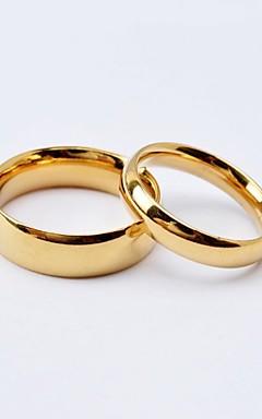 رخيصةأون -نسائي خواتم الزوجين عصابة الفرقة أسود ذهبي الصلب التيتانيوم مطلية بالذهب دائري سيدات بسيط أسلوب بسيط زفاف الذكرى السنوية مجوهرات كلاسيكي الحب صداقة