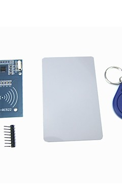 cheap -MFRC-522 RC522 RFID Module IC Card Induction Sensor with Free S50 Card Key Chain
