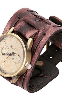 ieftine -moda 20cm ceas maro bratara din piele pentru bărbați (maro) (1 buc)