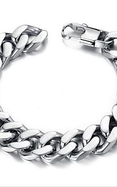 ieftine -Bărbați Brățări cu Lanț & Legături Design Unic stil minimalist Modă Teak Bijuterii brățară Argintiu Pentru Cadouri de Crăciun Zilnic