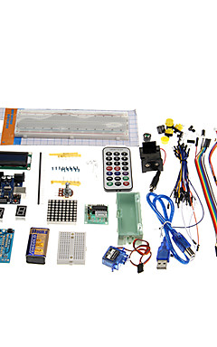 cheap -KT0001 R3 UNO Starter Learning Kit for Official Arduino Boards Multicolored