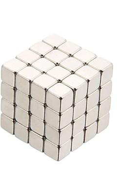 رخيصةأون -64 pcs ألعاب المغناطيس أحجار البناء سوبر قوي نادر الأرض مغناطيس مغناطيس النيوديميوم معدن للأطفال / للبالغين للصبيان للفتيات ألعاب هدية