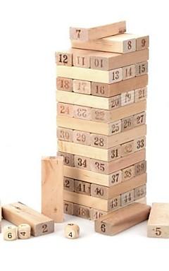 ieftine -de lemn 1 ~ 48 număr set blocuri Jenga jucărie