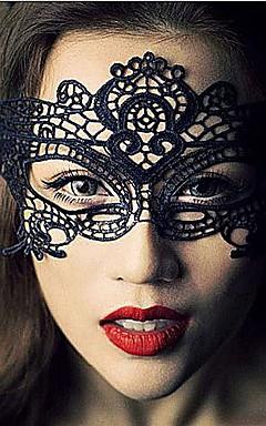 povoljno -Čipka Mask Maska za maskiranje Maska za Noć vještica Inspirirana Karneval Crn Halloween Muškarci Žene