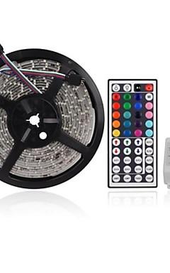 hesapli -Zdm 5m 300x2835 8mm rgb led şeritleri ışık esnek ve ir 44key uzaktan kumanda bağlantı kendinden yapışkanlı renk değiştiren