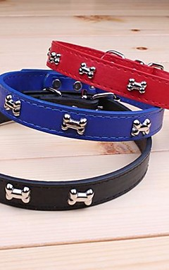 ieftine -Pisici Câine Gulere Ajustabile / Retractabil Cosplay PU piele Maro Rosu Albastru