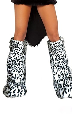 povoljno -ženske leopard print faux fur nogu grijače Božić pribor