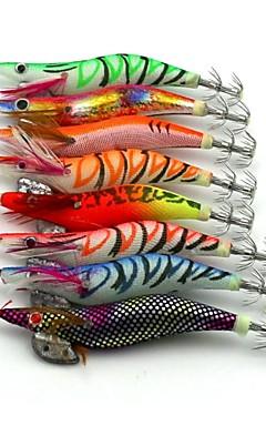 رخيصةأون -8 pcs طعم صيد جامد خدع الصيد طعم صيد جامد جمبري الغرق Bass سمك السلمون المرقط رمح الصيد البحري صيد الأسماك في المياه العذبة خشب