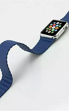 hesapli -Watch Band için Apple Watch Serisi 5/4/3/2/1 Apple Deri Döngü Gerçek Deri Bilek Askısı