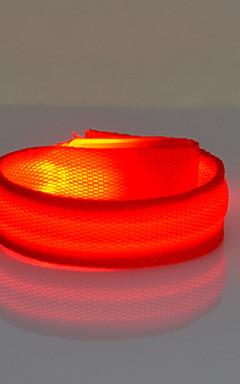 povoljno -Reflektirajuća traka / sigurnosne reflektori / LED narukvica za trčanje Night Vision ABS za Biciklizam Crveno Sunce