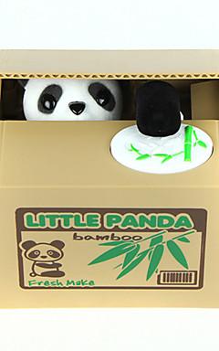 رخيصةأون -حصالة الباندا بنك المسكوكات سرقة عملة البنك جذاب كهربائي باندا بلاستيك للبالغين للصبيان للفتيات ألعاب هدية