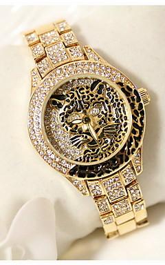 olcso -Női Divatos óra Japán kvarc Rozsdamentes acél Ezüst / Arany Alkalmi óra Analóg hölgyek Szikra Matt fekete - Ezüst Aranyozott Vörös arany
