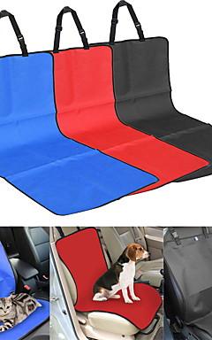 povoljno -Mačka Pas Auto presvlake sjedala Tekstil Ljubimci Pokrivači Jednobojni Plaid / Check Vodootporno Može se sklopiti Sive boje Crvena Plava