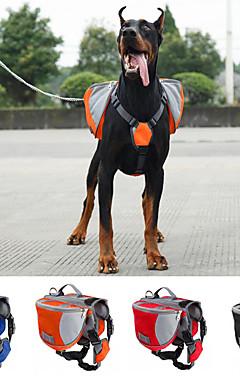 cheap -Dog Carrier Bag & Travel Backpack Dog Pack Dog Backpack Dog Saddle Bag Waterproof Portable Nylon Black Red Blue