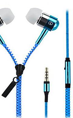 povoljno -Zipper U uhu Žičano Slušalice Dinamičan Aluminum Alloy mobitel Slušalica S mikrofonom Slušalice