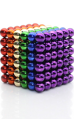 cheap -Linlinzz  Children's DIY Buckyball Stainless Steel Ball Steel Magnetic Sculptures Beads Healing Toys - 5MM (Colorful)