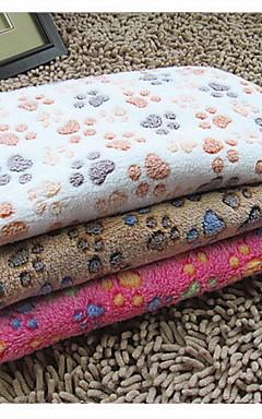 رخيصةأون -قط كلب مرتبة السرير التنظيف منشفة بطانيات السرير سروال قصير حيوانات أليفة بطانيات بصمة / باو مزدوج قابلة للطى زهري وردي البيج