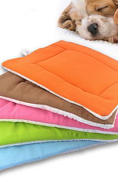 رخيصةأون -قط كلب مرتبة السرير الأسرّة بطانيات السرير الحصير والوسادات القطبية ابتزاز ناعم أخضر أزرق زهري