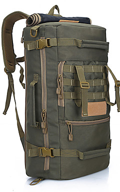 cheap -60 L Hiking Backpack Rucksack Military Tactical Backpack Waterproof Portable Wear Resistance High Capacity Outdoor Camping / Hiking Hunting Climbing Nylon Black Three Sand Color Army Green / Yes