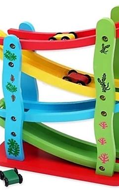 رخيصةأون -أحجار البناء التراجع سيارة / القصور الذاتي السيارات حداثة سيارة خشب 1 pcs قطع للصبيان للفتيات ألعاب هدية