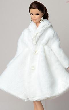 voordelige -Doll accessoires Poppenjurk Informeel Voor Barbie Polyesteri Fleece Jas Voor voor meisjes Speelgoedpop