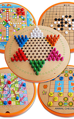 ieftine -Jocuri de masă Carouri Șahul avionului Schițe Șahul Junglei Lemn Profesional Pentru copii Adulți Unisex Băieți Fete Jucarii Cadouri