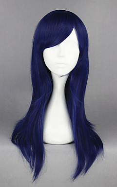 cheap -Synthetic Wig Cosplay Wig Straight Straight Wig Medium Length Blue Synthetic Hair Women's Blue