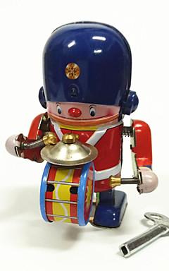 رخيصةأون -إنسان آلي لعبة الريح آلة إنسان آلي مجموعة طبول المعدنية الحديد عتيق 1 pcs قطع للأطفال للبالغين للصبيان للفتيات ألعاب هدية