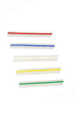cheap -Gold-plated 40P 2.54mm Male and Female Color Single Row Pin Header for Arduino Uno R3  (20pcs)