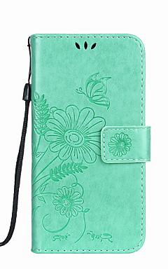 hesapli -Pouzdro Uyumluluk Samsung Galaxy S5 Mini / S4 Mini Cüzdan / Kart Tutucu / Satandlı Tam Kaplama Kılıf Kelebek / Çiçek Sert PU Deri