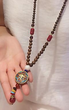رخيصةأون -رجالي نسائي قلائد الحلي مخصص موضة خشب التقزح اللوني قلادة مجوهرات من أجل هدية مناسب للبس اليومي