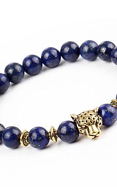 ieftine -Bărbați Pentru femei Onyx Brățări cu Mărgele Brățară Natură Modă Aliaj Bijuterii brățară Albastru Închis Pentru Cadou Concediu