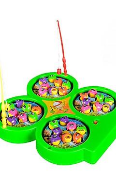 ieftine -Jucarii de pescuit Jucărie muzicală Jucărie pentru pescuit rotativ Electric 4 jucători Pentru copii Jucarii Cadou 1 pcs