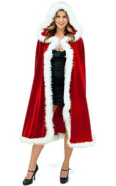 povoljno -Djed Mraz Mrs.Claus Plašt Santa Clothe Žene Božić Festival / Praznik Pliš Crvena Karneval kostime Jednobojni