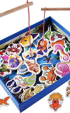 ieftine -Jocuri de masă De lemn Temă Clasică Animale Magnetic Interacțiunea părinte-copil Pentru copii Băieți Fete Jucarii Cadouri