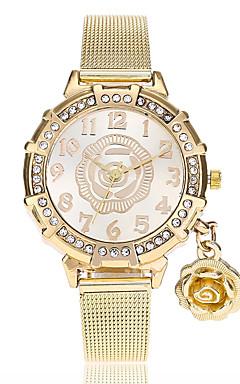 olcso -Női Karóra Diamond Watch Arany óra Kvarc Arany utánzat Diamond Analóg hölgyek Virág Alkalmi Divat - Arany