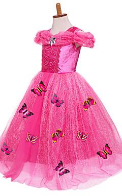 povoljno -Princeza Cinderella Fairytale Haljine Kostim za party Dječji Ball haljina proklizavanja Mesh Kamado roštilj Božić Halloween Maškare Festival / Praznik Silk / Cotton Blend Bijela / Plava / Pink