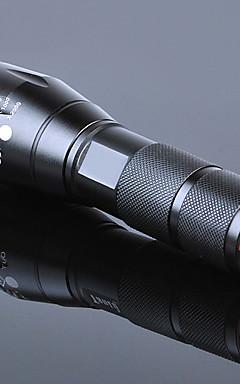 Недорогие -Светодиодные фонари Водонепроницаемый Масштабируемые 3000 lm LED излучатели 5 Режим освещения с батареей и зарядным устройством / Перезаряжаемый / Алюминиевый сплав / Перезаряжаемый / Стандарт США