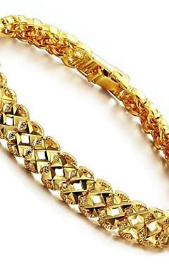 ieftine -Brățări cu Lanț & Legături Geometric Modă 18K Placat cu Aur Bijuterii brățară Auriu Pentru Cadou Zilnic