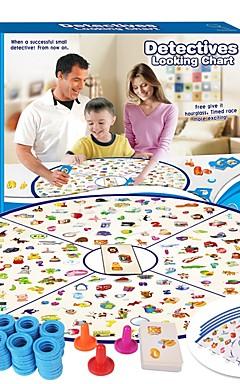 ieftine -1 pcs Jocuri de masă Detectivii care caută diagrama Profesional Interacțiunea părinte-copil Pentru copii Adulți Adolescent Băieți Fete Jucarii Cadouri