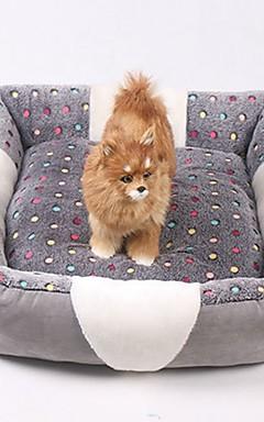 رخيصةأون -كلاب الأرانب قطط مرتبة السرير الأسرّة أسرة بطانيات السرير بطانيات قماش مصغرة الدفء ناعم Plaid / Check موضة رمادي