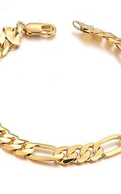 povoljno -Muškarci Gipke i čvrste narukvice Sa stilom Kreativan Moda 18K pozlaćeni Narukvica Nakit Zlato Za Dnevno Spoj