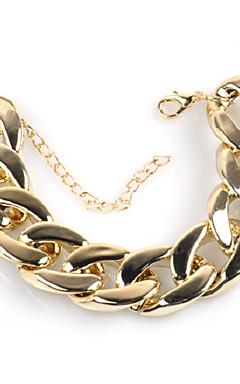 ieftine -Bărbați Brățară Link cubanez Chainul gros Creative Simplu La modă Hiperbolă Aliaj Bijuterii brățară Auriu Pentru Stradă Măr