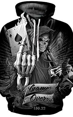 povoljno -Muškarci Veći konfekcijski brojevi Punk & Gotika / pretjeran Dugih rukava Hoodie - Print, Geometrijski oblici / Jesen