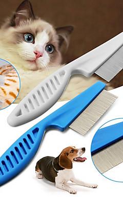 رخيصةأون -كلاب قطط الاستمالة التنظيف بلاستيك أمشاط كاجوال / يومي حيوانات أليفة أدوات الحلاقة أبيض 1