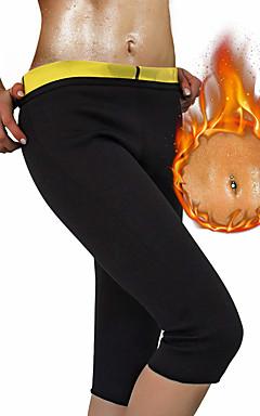 povoljno -Shaper tijela Hlače za mršavljenje Capris Leggings Sportski Neopren Yoga Sposobnost Bikram Rastezljiva Vrući znoja Gubitak težine Tummy Fat Burner Kontrola trbuščića Za Muškarci Žene Noga Trbuh