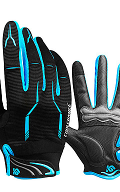 cheap -CoolChange Winter Bike Gloves / Cycling Gloves Mountain Bike Gloves Mountain Bike MTB Thermal / Warm Breathable Anti-Slip Sweat-wicking Full Finger Gloves Sports Gloves Silicone Gel Terry Cloth Black