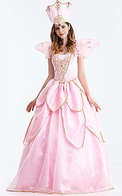 povoljno -Princeza Cosplay Nošnje Odrasli Žene Haljine Božić Halloween Karneval Festival / Praznik Til Pamuk Pink Karneval kostime Princeza