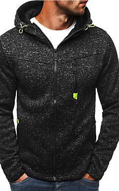 povoljno -Muškarci Aktivan / Osnovni Hoodie / hoodie jakna - S izrezom, Na točkice